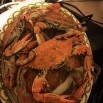 Crabs cooking from market, soooo fresh