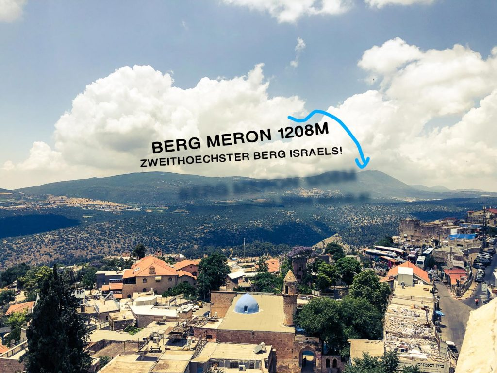 Blick auf den Berg Meron von Safed