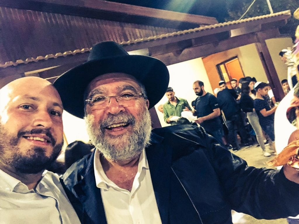 Mit einem lieben Bekannten aus dem Ort, orthodoxer Jude